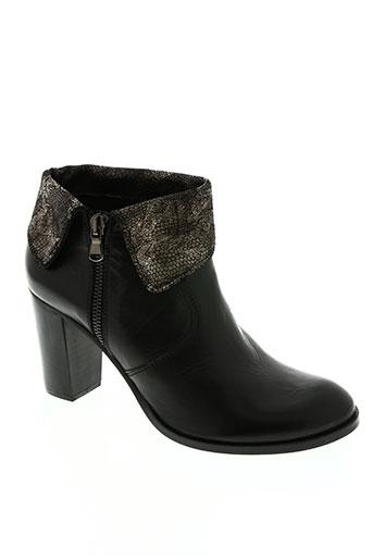 dénouée chaussures femme de couleur noir