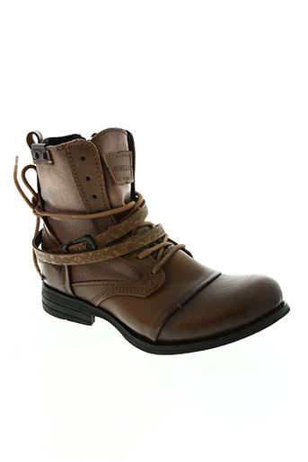 bunker chaussures femme de couleur marron