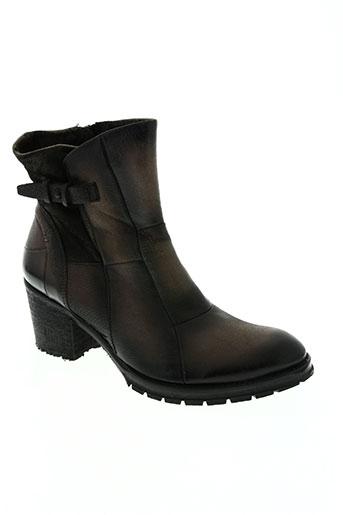 bunker chaussures femme de couleur gris