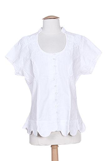 la cotonnière chemises femme de couleur blanc