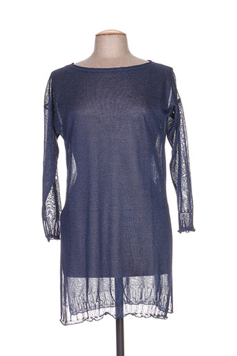 Pull tunique bleu B.YU pour femme