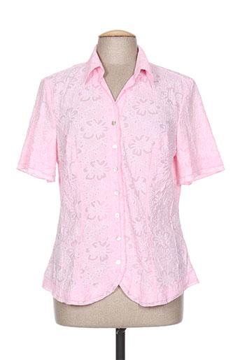 fer chemises femme de couleur rose