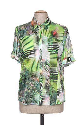 fer chemises femme de couleur vert