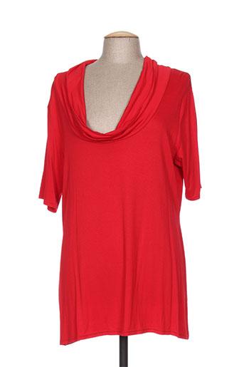 capuccina chemises femme de couleur rouge