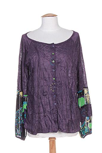 franck anna chemises femme de couleur violet