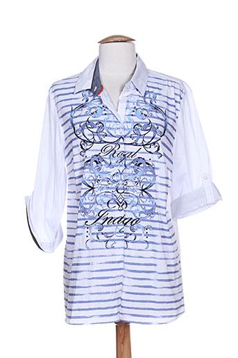 fer chemises femme de couleur bleu