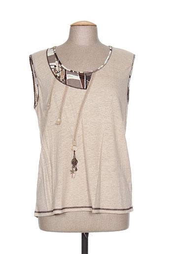 saint charles t-shirts femme de couleur beige