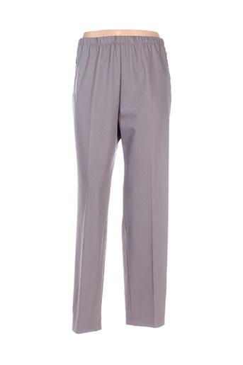 richy pantalons femme de couleur gris