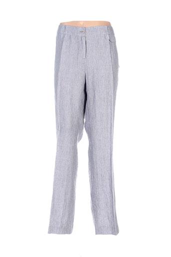 Pantalon chic gris EMMANUELI pour femme