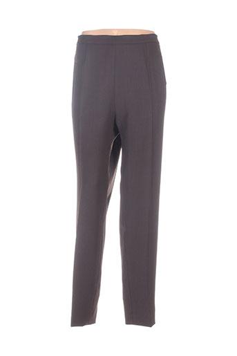 Pantalon chic marron EMMANUELI pour femme