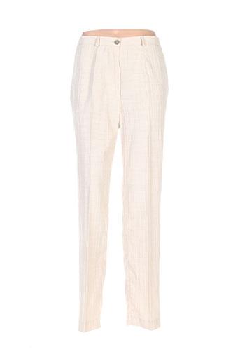 Pantalon casual beige EMMANUELI pour femme