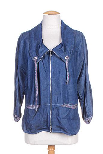 deca vestes femme de couleur bleu