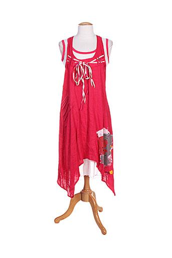 double jeu robes femme de couleur rose