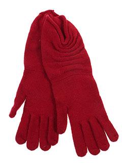 Gants rouge GUIDO LOMBARDI pour femme