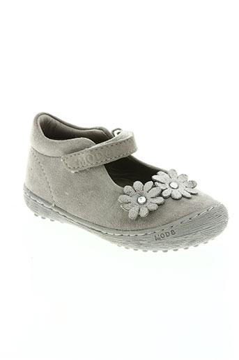 mod8 chaussures fille de couleur gris