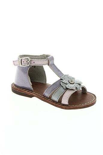 aster chaussures fille de couleur violet