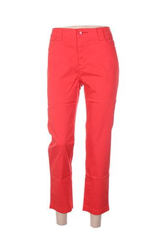 youline pantacourts femme de couleur rouge