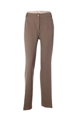 Pantalon casual marron ABSOLU pour femme