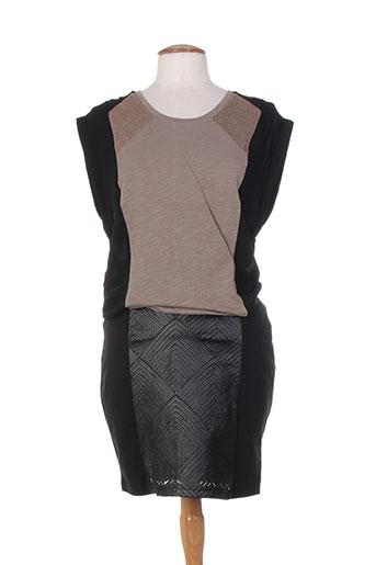 Robe courte noir MISS CAPTAIN pour femme