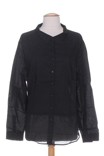 miss captain chemises femme de couleur noir