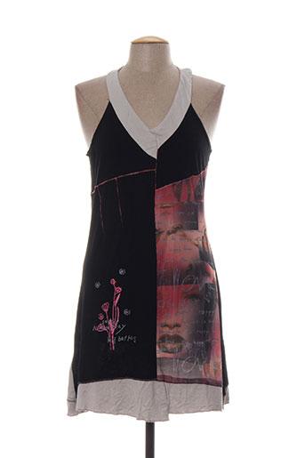 rose bleue robes femme de couleur noir