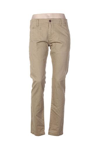 element pantalons femme de couleur beige