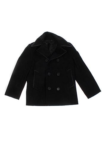ikks manteaux garçon de couleur noir