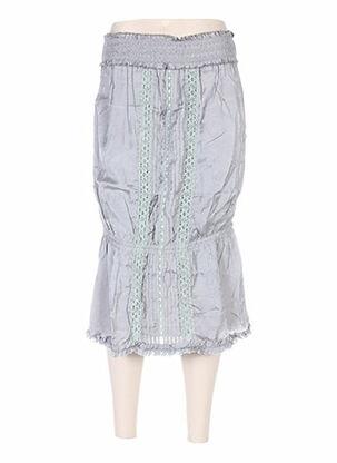 Jupe mi-longue gris ANNE TURTAUT pour femme