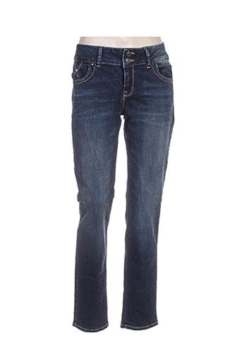 ltb jeans femme de couleur bleu