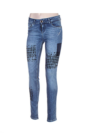 desigual jeans femme de couleur bleu