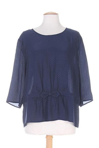 des petits hauts chemises femme de couleur bleu