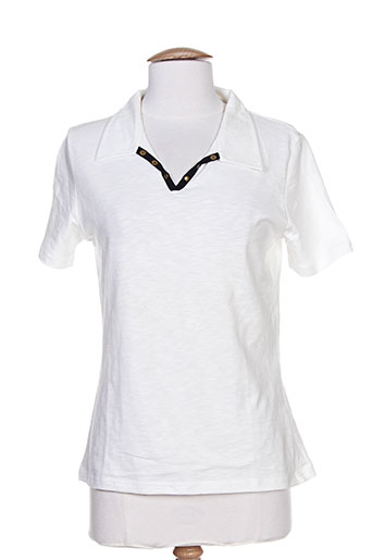 Polo manches courtes blanc THALASSA pour femme