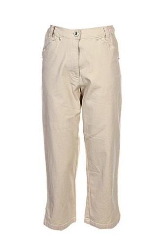 thalassa pantacourts femme de couleur beige