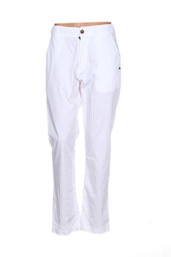 Pantalon casual blanc GOUBI pour femme