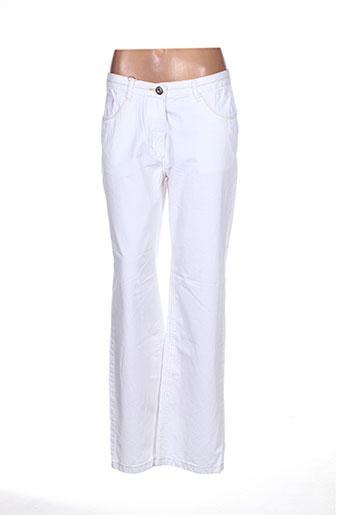 Pantalon casual blanc THALASSA pour femme