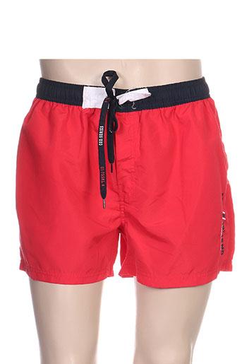 losan maillots de bain homme de couleur rouge