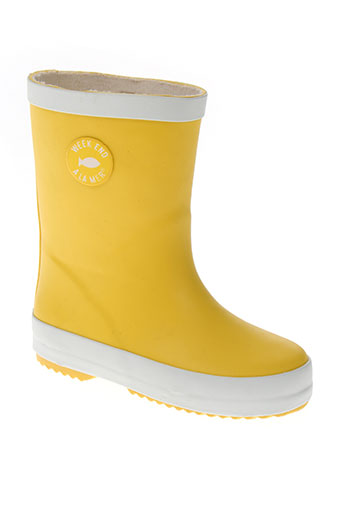 week end a la mer chaussures enfant de couleur jaune