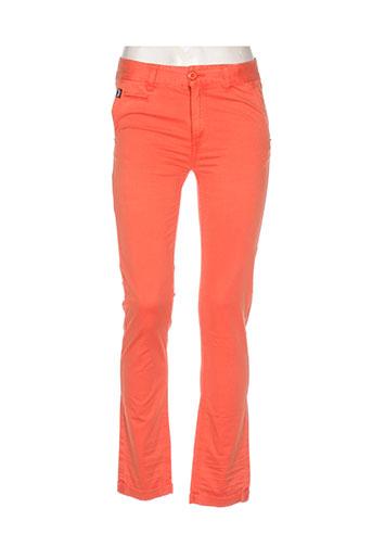 kaporal jeans fille de couleur orange