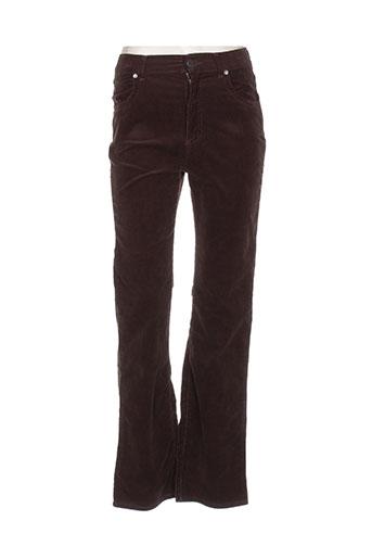 ober pantalons femme de couleur marron