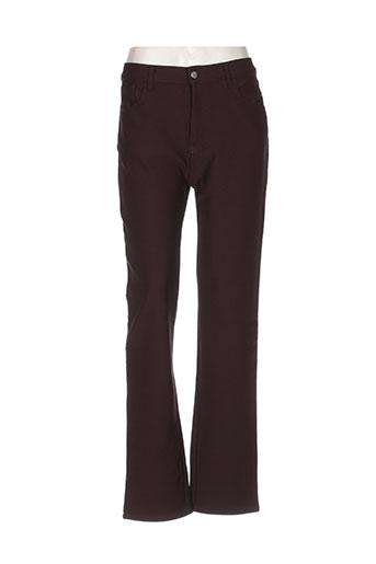Pantalon casual marron GALLICE pour femme