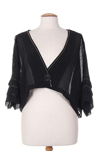 Veste casual noir FLORESSE pour femme