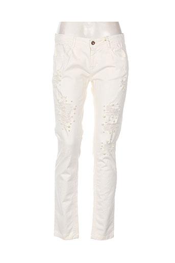 pois jeans femme de couleur beige