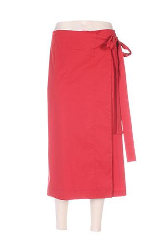think chic pantacourts femme de couleur rouge