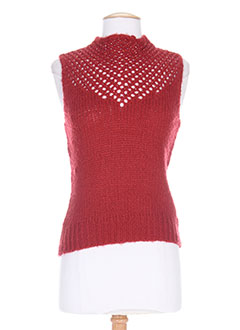 Pull col rond rouge GIAND pour femme