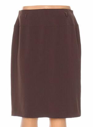 Jupe mi-longue marron FE EDITION pour femme