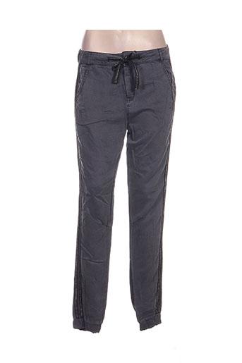 aaiko pantalons femme de couleur gris