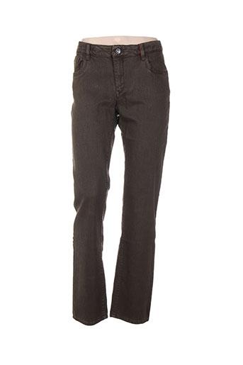 couturist jeans femme de couleur marron