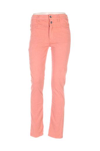 couturist pantalons femme de couleur orange