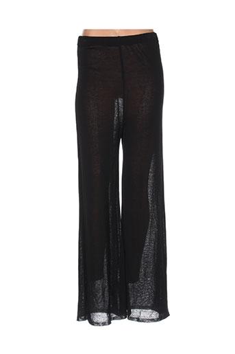 chassagnard pantalons femme de couleur noir