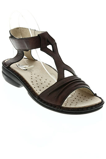 la plume chaussures femme de couleur marron